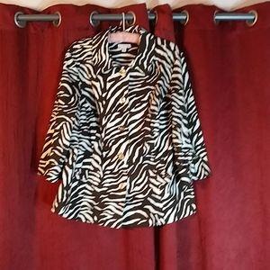 Zebra Blazer Women 2x Safari